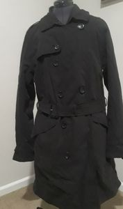 Saks Fifth Avenue black trench coat
